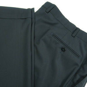 Ermenegildo Zegna Wool Pleated Cuffed Dress Pants